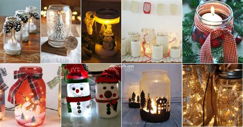 jar decorating ideas for christmas tutorialous com 12 amazing mason jar christmas d 233 cor ideas