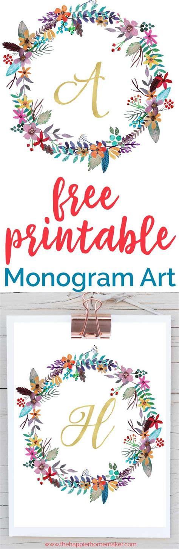 printable monogram art  printable monogram