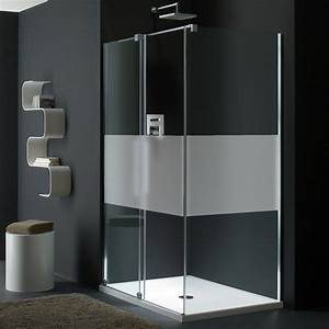 sticker porte de douche personnalisable bande unie With stickers pour porte de douche