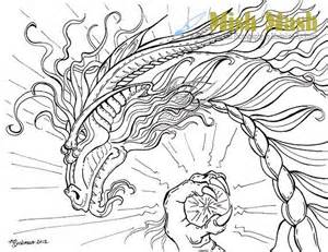 Mythical Dragon Coloring Pages Adults