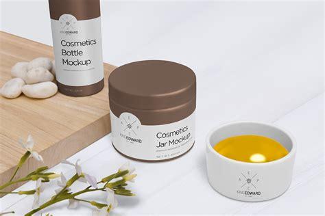 Free cosmetic cream tube mockup (psd). Free Cosmetic Jar and Bottle Mockups | Free Mockup
