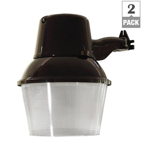 feit electric 38 watt bronze outdoor led 9 5 in wall mount security area light with dusk