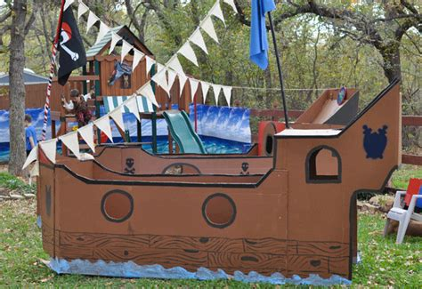 Pirate Ship Cardboard Boat by Pirate Jackson Is 5 Chickabug