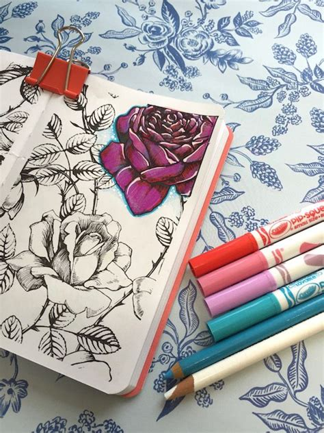 tip adding white accents  colored images color pencil