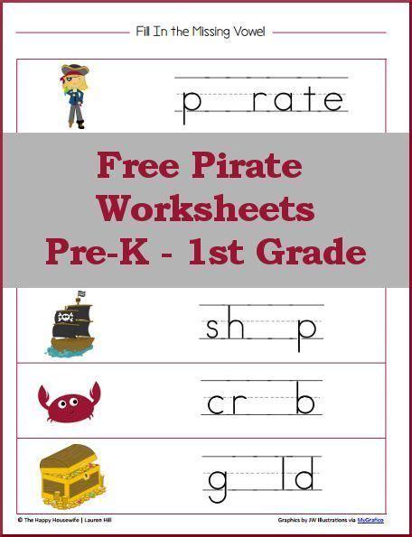 pirate worksheets free printables kindergarten reading
