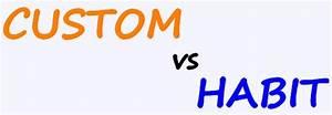 custom vs habit englishguide
