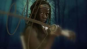 Michonne (1366x768 wallpaper) - Michonne Fan Art (37600690 ...