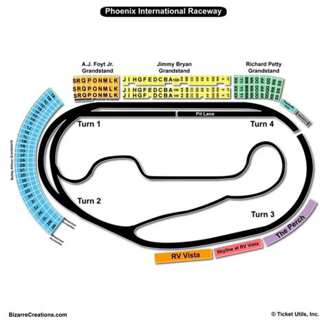 ism raceway seating chart seating charts