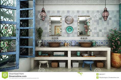 moroccan bathroom stock image image  bathroom glass