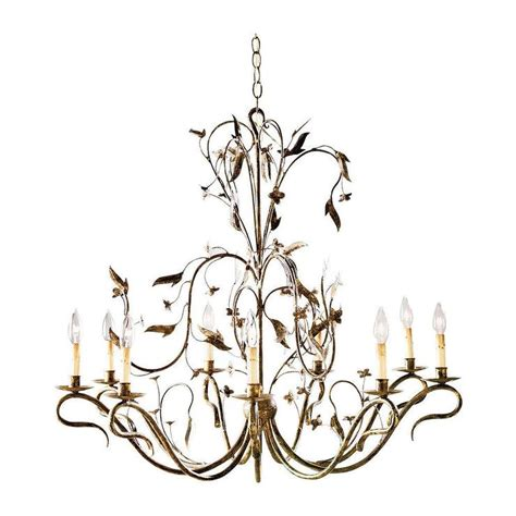 ethan allen dining room sets nine light arcadia gold leaf chandelier
