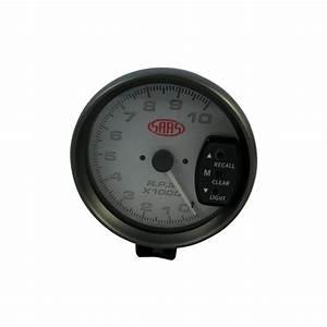 Saas 5 Inch Monster Tacho Tachometer Gauge Shift Light White