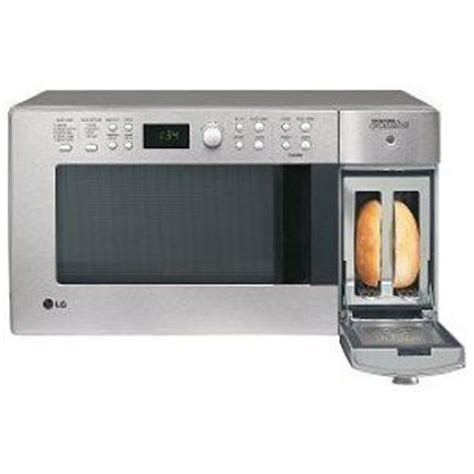 lg toaster combo lg 900 watt combination microwave and toaster ltm9000st