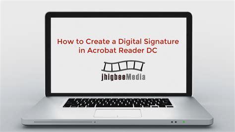 create  digital signature  adobe acrobat reader