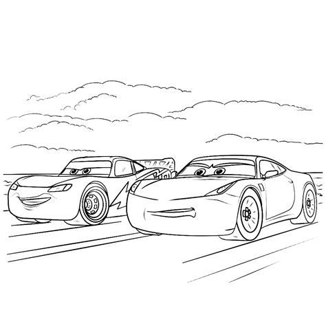 Cars Kleurplaat 3 by Leuk Voor Lightning Mcqueen Samen Met Ramirez