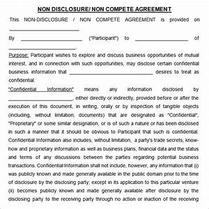 non compete agreement 7 free pdf doc download With confidentiality and non compete agreement template