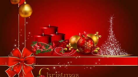 merry christmas red candles decorative balls christmas red