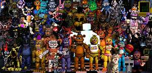 Fnaf All Characters! (Did i Miss one?) by EpicKC01Gamer on ...