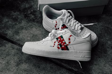 amac custom amac customs nike gucci snakes af1 low what drops now