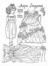Paper Dolls Doll Anya Ventura Charles Coloring Imagines Printable Adult Boneca Colour Colouring Crafts Toys Marlendy Paperdolls Clothes Template Papel sketch template