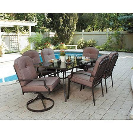 mainstays wentworth 7 patio dining set seats 6