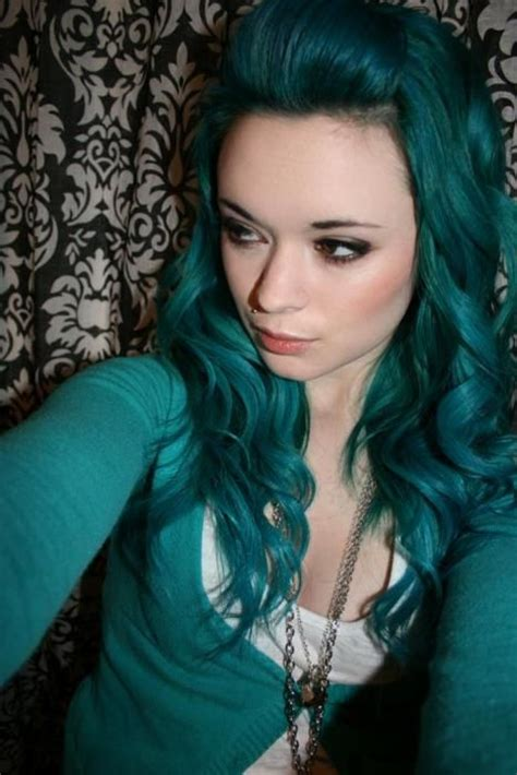 17 Best Ideas About Dark Teal Hair On Pinterest Dyed