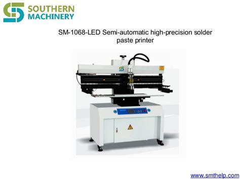 Semi-automatic Paste Printer-paste Mixer-feeder Table