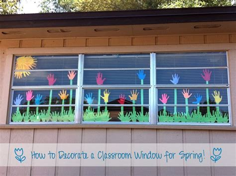 how to decorate a classroom window for would work 984   cc341e52683f881176dec1ccbf4a8c9f classroom window decorations spring window classroom