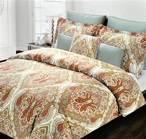 Tahari Bedding Collection by Tahari Home Orange Duvet Cover 3pc Set