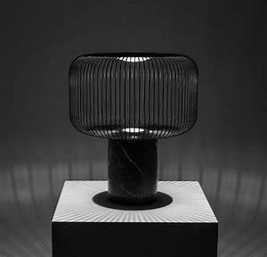 Lampe A Poser : lampe poser keshi noir 50cm b lux luminaires nedgis ~ Nature-et-papiers.com Idées de Décoration