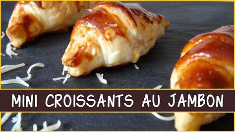 recette des mini croissants au jambon