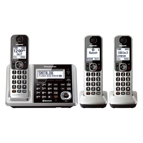 cordless phone with answering machine panasonic 174 kxtgf373s link2cell bluetooth cordless phone
