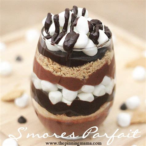 s mores parfait chocolate dessert recipe the pinning