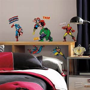 32 new classic marvel heroes wall decals avengers stickers With marvel wall decals