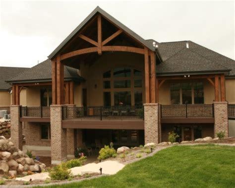 covered porch house plans 9 best walkout basement ideas images on