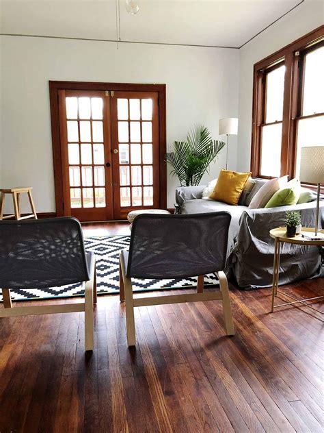 modern minimalist living room makeover   budget
