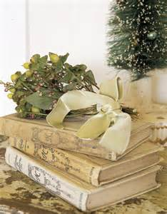 Vintage Books For Decoration by Anyone Considering Doing Book Centerpieces Like Me