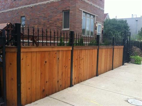 wrought iron wood fence iron fence designs ideas for durable and stylish and give a high class flare to your home home