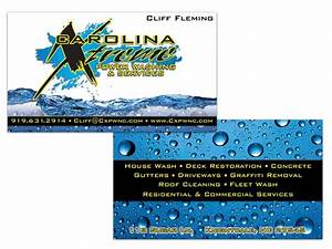Carolina xtreme power washing double sided business card for Power wash business cards