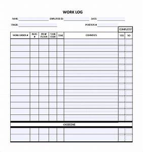 16 sample daily log templates pdf doc sample templates With daily work record template
