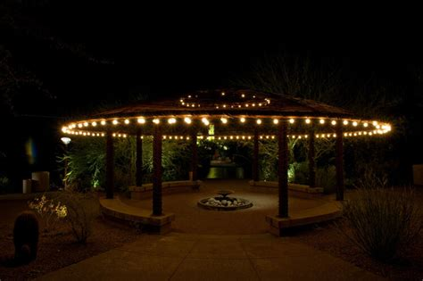 hanging patio string lights  pattern  perfection yard envy
