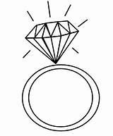 Coloring Ring Diamond Rings Heart Pages Elegant Drawing Sheets Dari Coloringpagesfortoddlers Disimpan sketch template