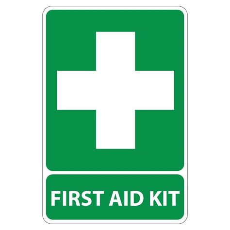 rectangular plastic first aid kit sign pse 0004 the home depot