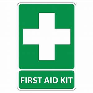 Rectangular Plastic First Aid Kit Sign-PSE-0004 - The Home ...