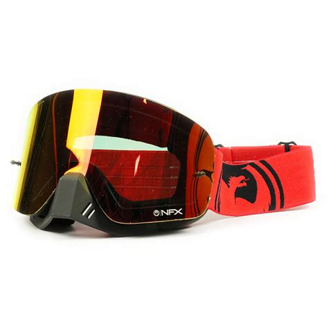dragon motocross goggles dragon mx new nfx fade red black ion dirt bike