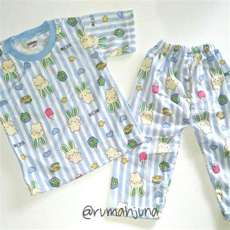 jual baju tidur size  bahan kaos piyama pakaian anak laki