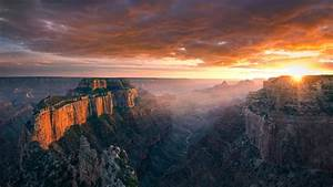 Cape, Royal, North, Rome, Of, Grand, Canyon, Arizona, Sunset