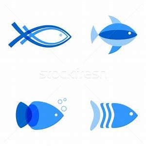 Blu · colori · abstract · pesce · logo - illustrazione ...