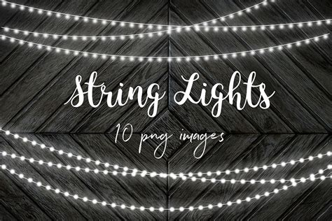 String Lights Clipart by White String Lights Clip