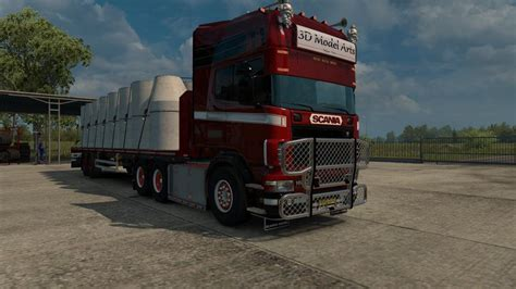 bullbar for scania rjl 4 series v2 0 tuning mod truck simulator 2 mods