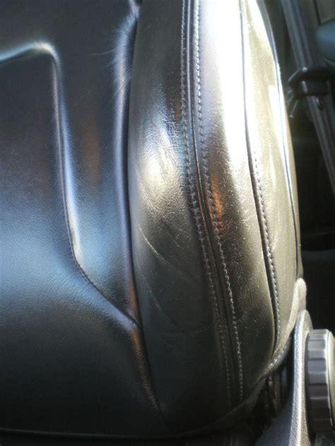 reparation siege auto en cuir réparer un côté de siège en cuir noir intérieur véhicule